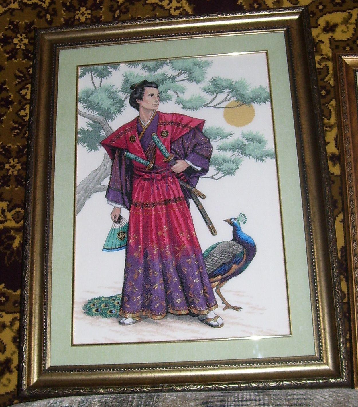 'Величественный самурай'.. Восток, иероглифы