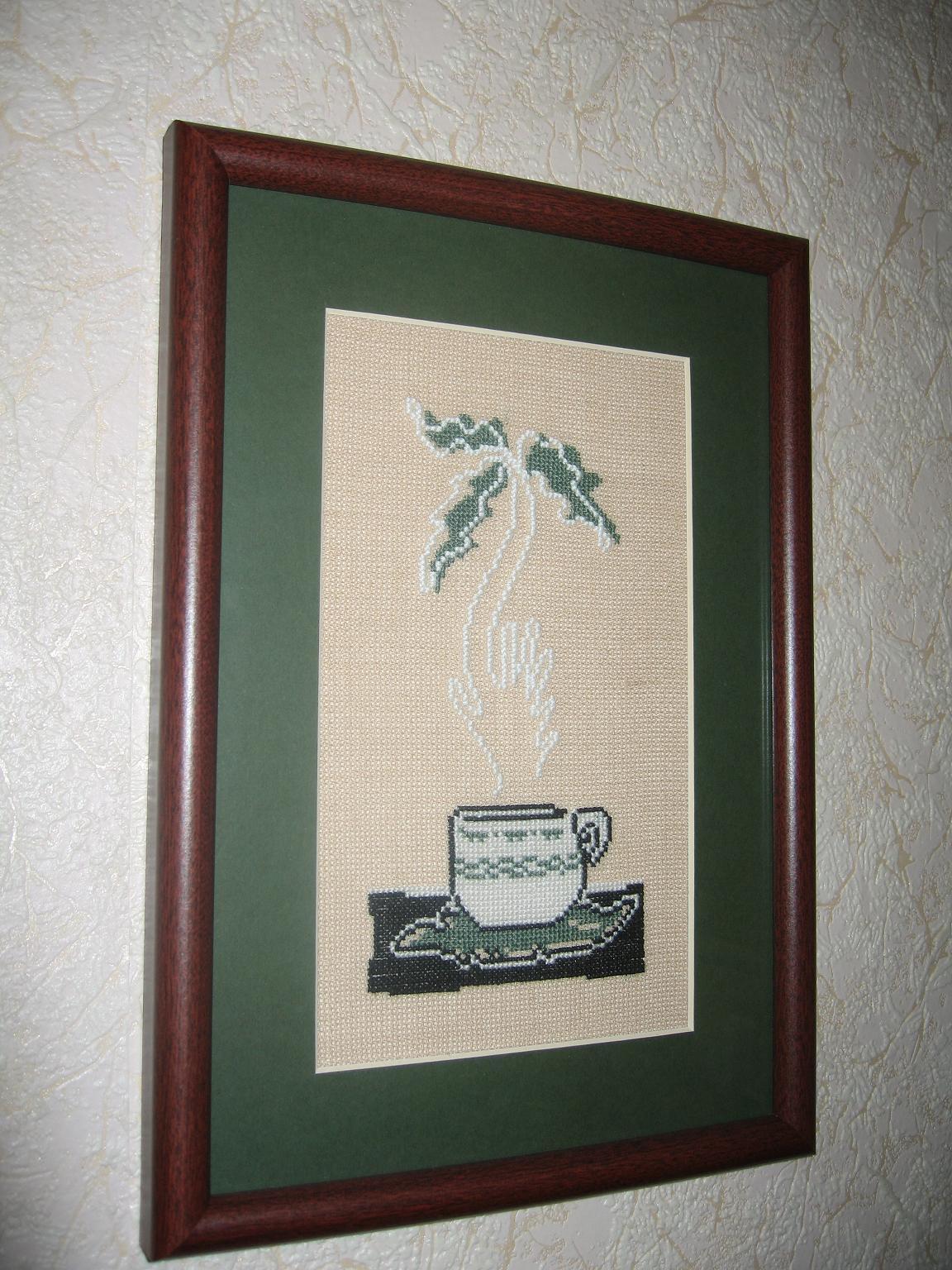 Серия 'Иллюзии в чашках кофе' - Пальма. Бытовые сюжеты
