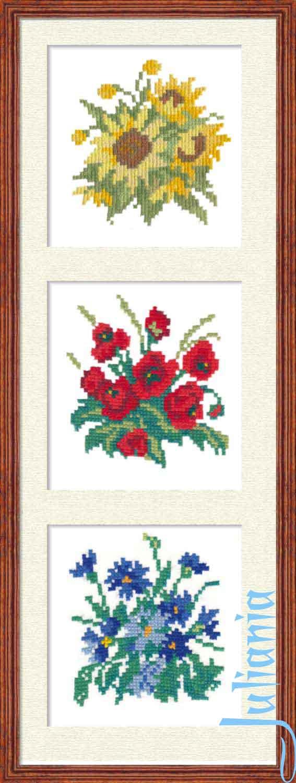 029_триптих цветы. Растения (в основном цветы)