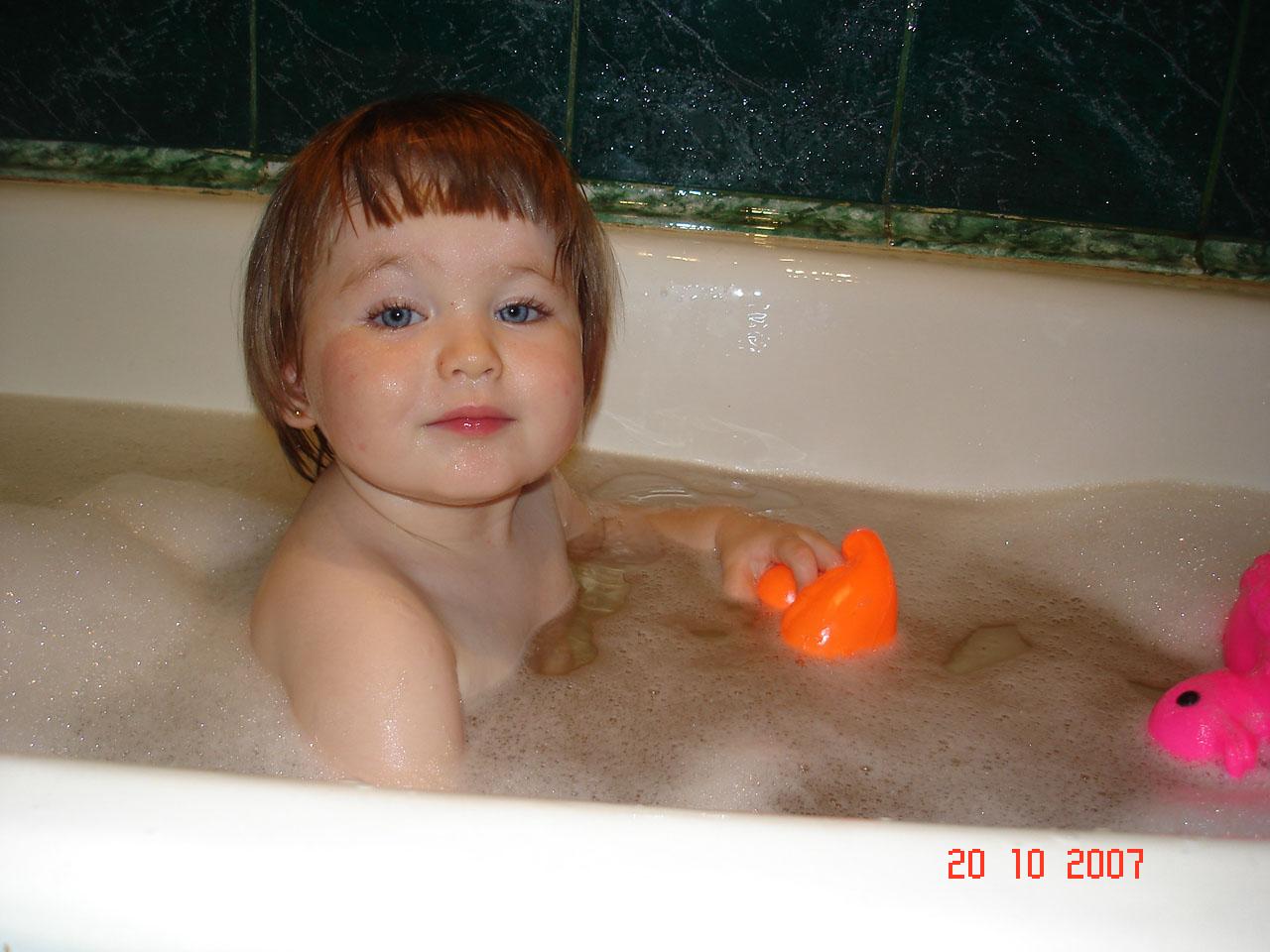 Вот как мы купаемся. Купание в ванной