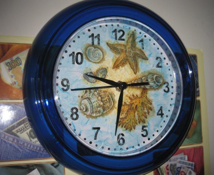 морские часы. Декупаж