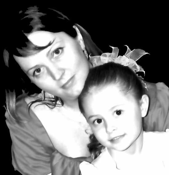 Я и дочь 2008 год. Вместе с мамой