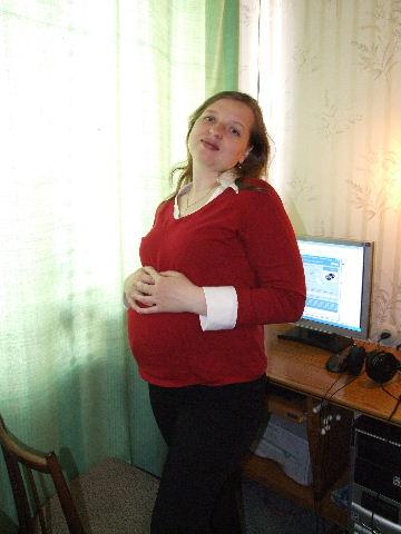Пуз (24 неделя). Беременность