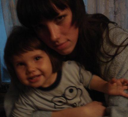 я и моя малышка. Вместе с мамой