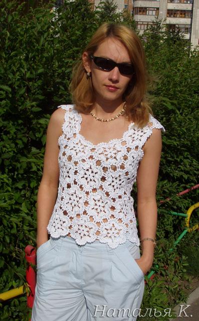Белая маечка. Одежда