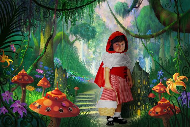 Красная Шапочка. Фотоколлажи, обработанные фото