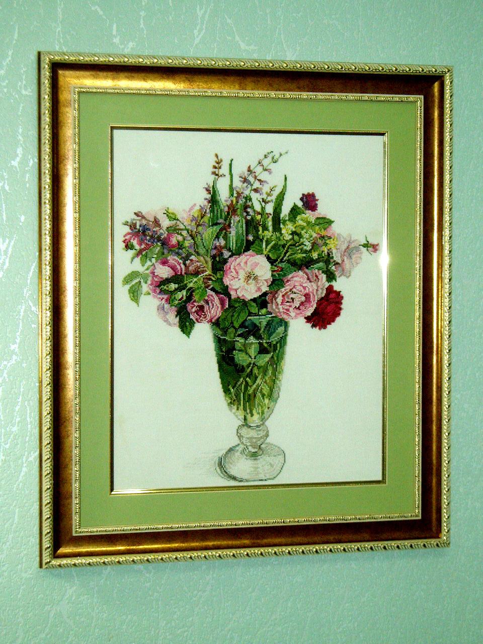 Розы и трава Фуджико . Растения (в основном цветы)