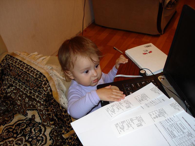 Настена. Дети за компьютером