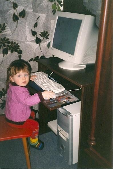 Детки осваивают интернет.... Дети за компьютером