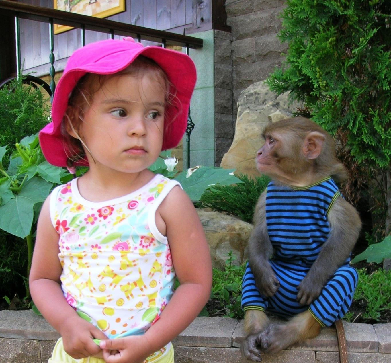 Я и моя подружка обезьянка!. Я люблю гулять