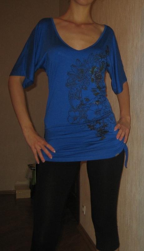 Синяя кофточка 1. Одежда