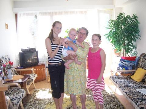 С любимой бабушкой.... Она и Он