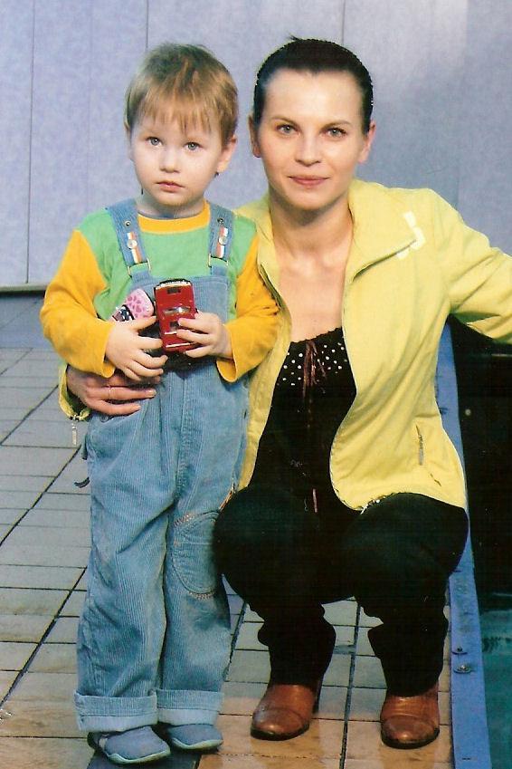 я с моим сынулькой. Вместе с мамой