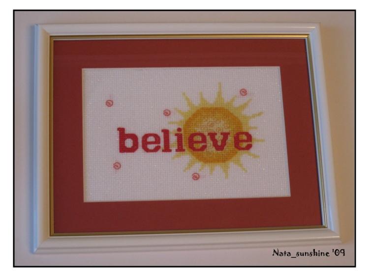 Believe. Вышитые открытки