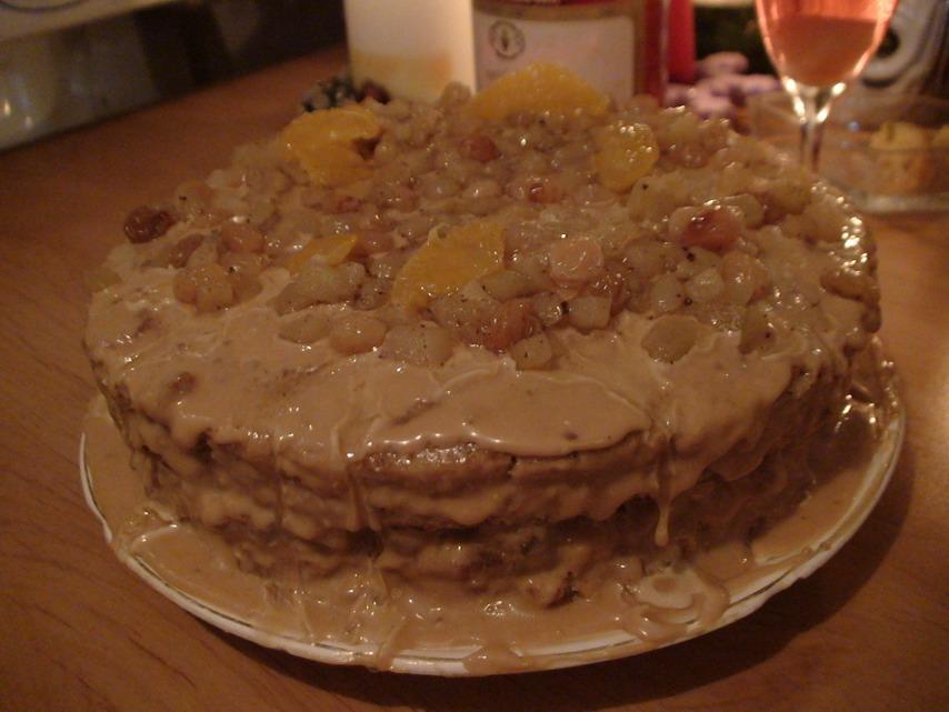 Вариация торта с грецкими орехами.. Приятного аппетита!