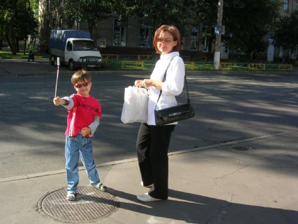 Я с сыном. Вместе с мамой