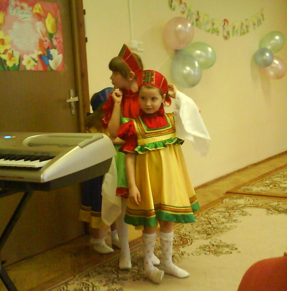 на празднике 8 марта. Мой любимый детский сад