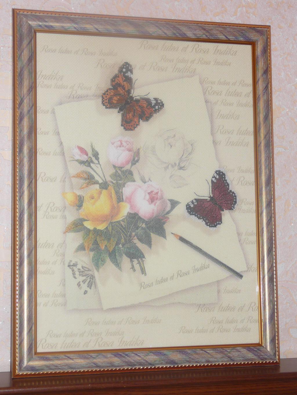 Бабочки с розами. Феи,  эльфы, бабочки и др. насекомые