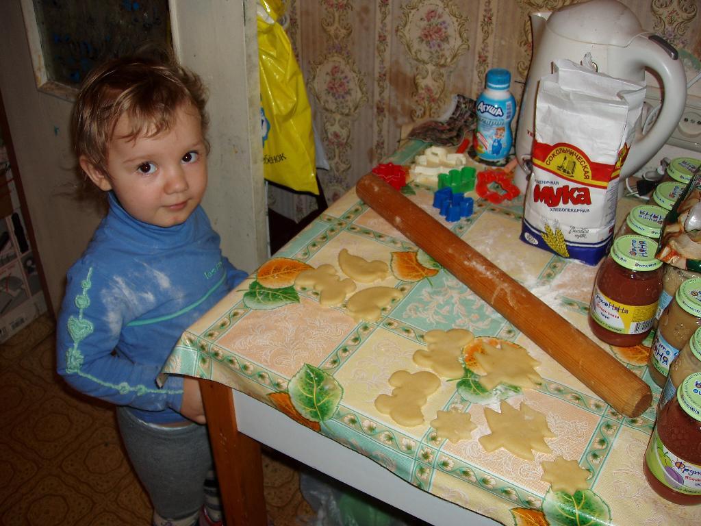 Новогоднее печенье от Ленуськи!. Готовим вместе с мамой