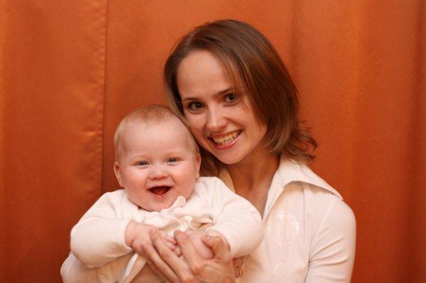 Счастливая мама - весёлый малыш :). Время улыбаться
