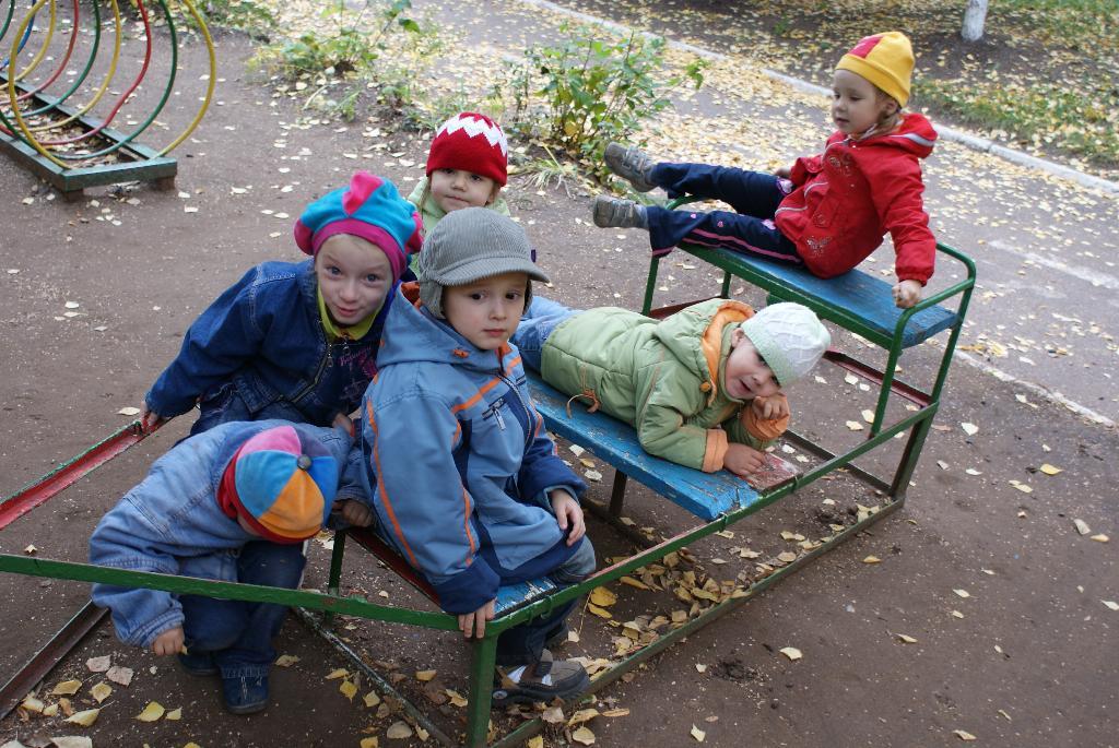 На прогулке в дет.саду. Мой любимый детский сад
