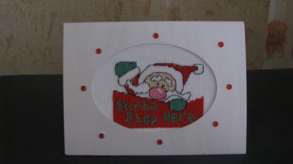 Санта на открытке. Открытки