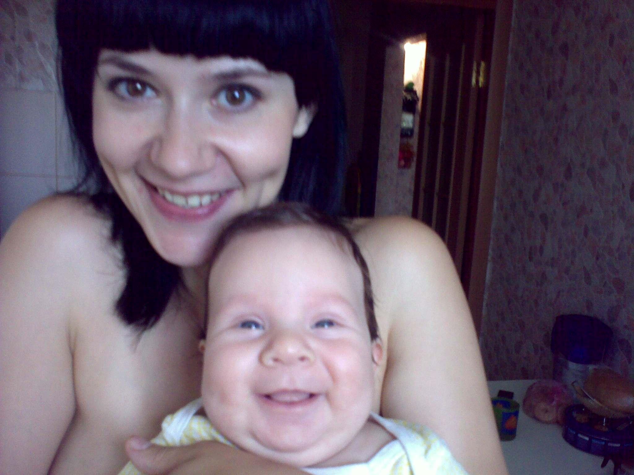 Наши с сыном улыбки. Время улыбаться