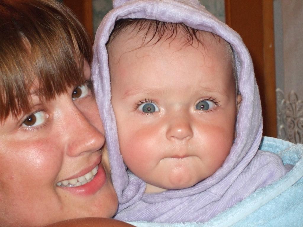 я и мама. Мадонна с младенцем