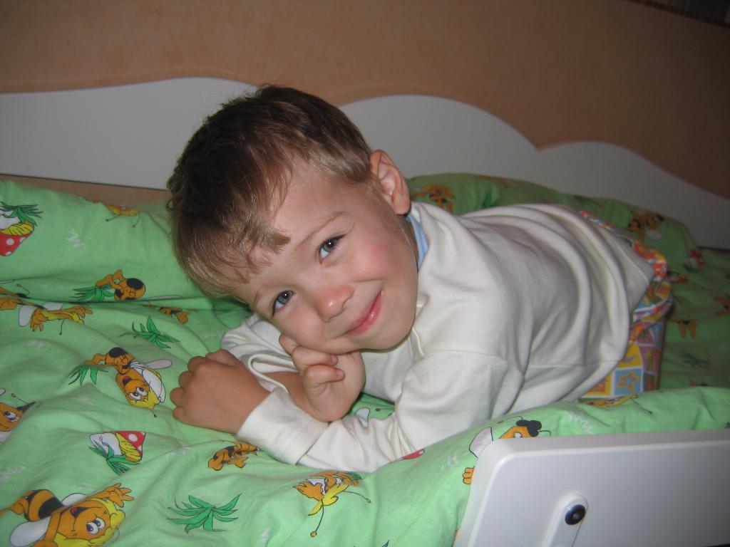 Мой любимый сынок:). Время улыбаться