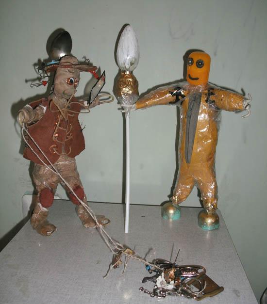 Девятый с другом -Вторым.. Самодельные игрушки