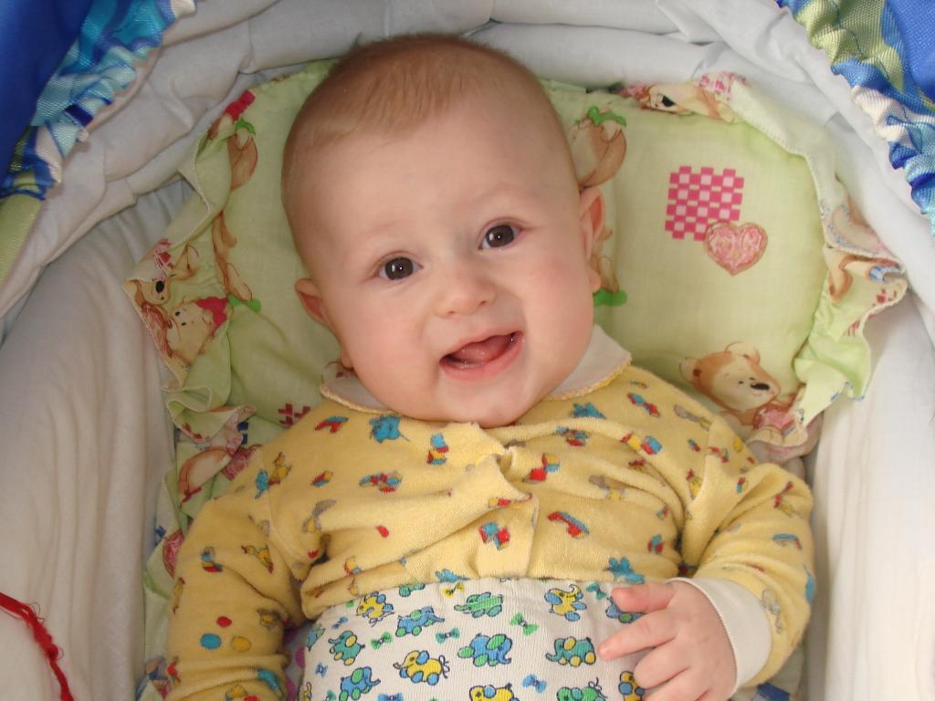 Никитке 5 месяцев. Маленькая модель