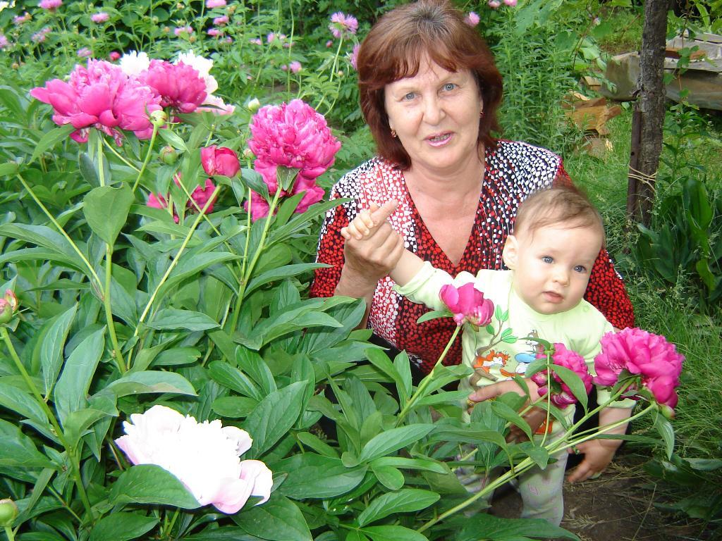 Мы с бабушкой -два красивых цветка в букете'жизни'. Стар и мал