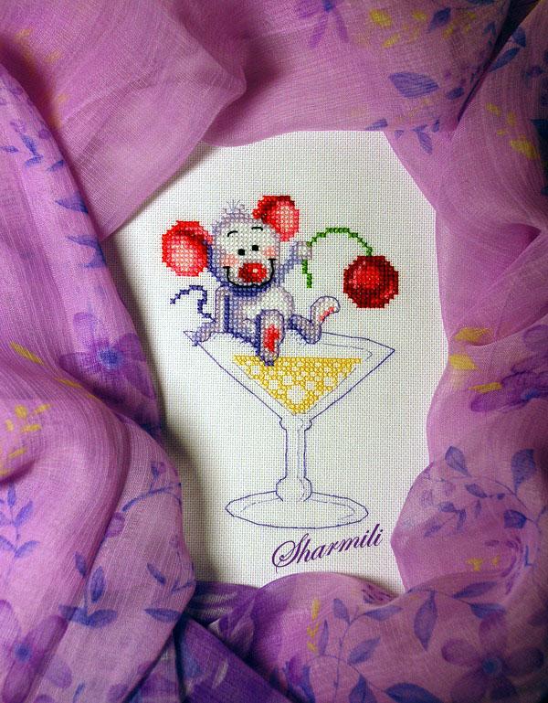 Мышь праздничная :) ('Чарiвна Мить', А-054). Животные