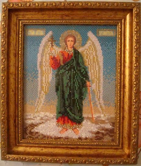 Ангел Хранитель. Вышивка бисером