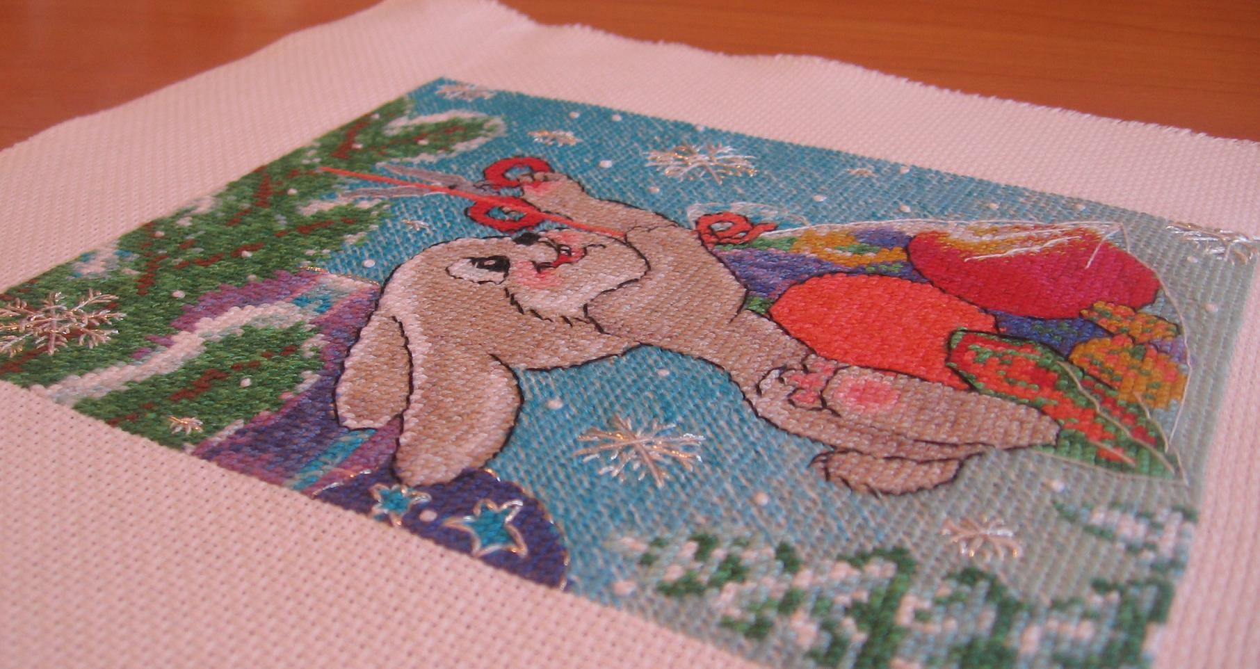 Схема вышивки по советским открыткам