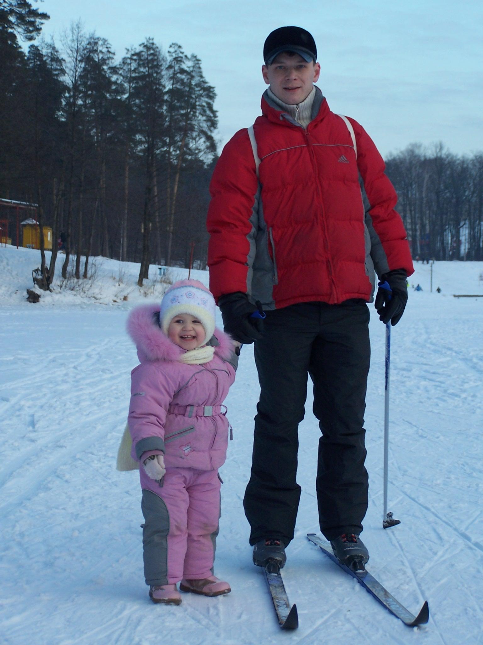 'Лыжники'. Зимняя прогулка