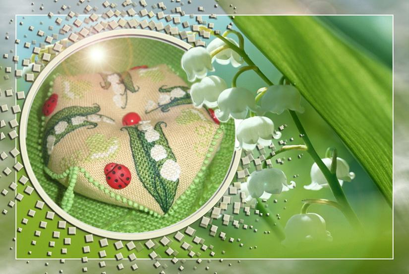 21.  TashaZ для IRI№KI. 2009 Проект 'Игольница к 8 Марта