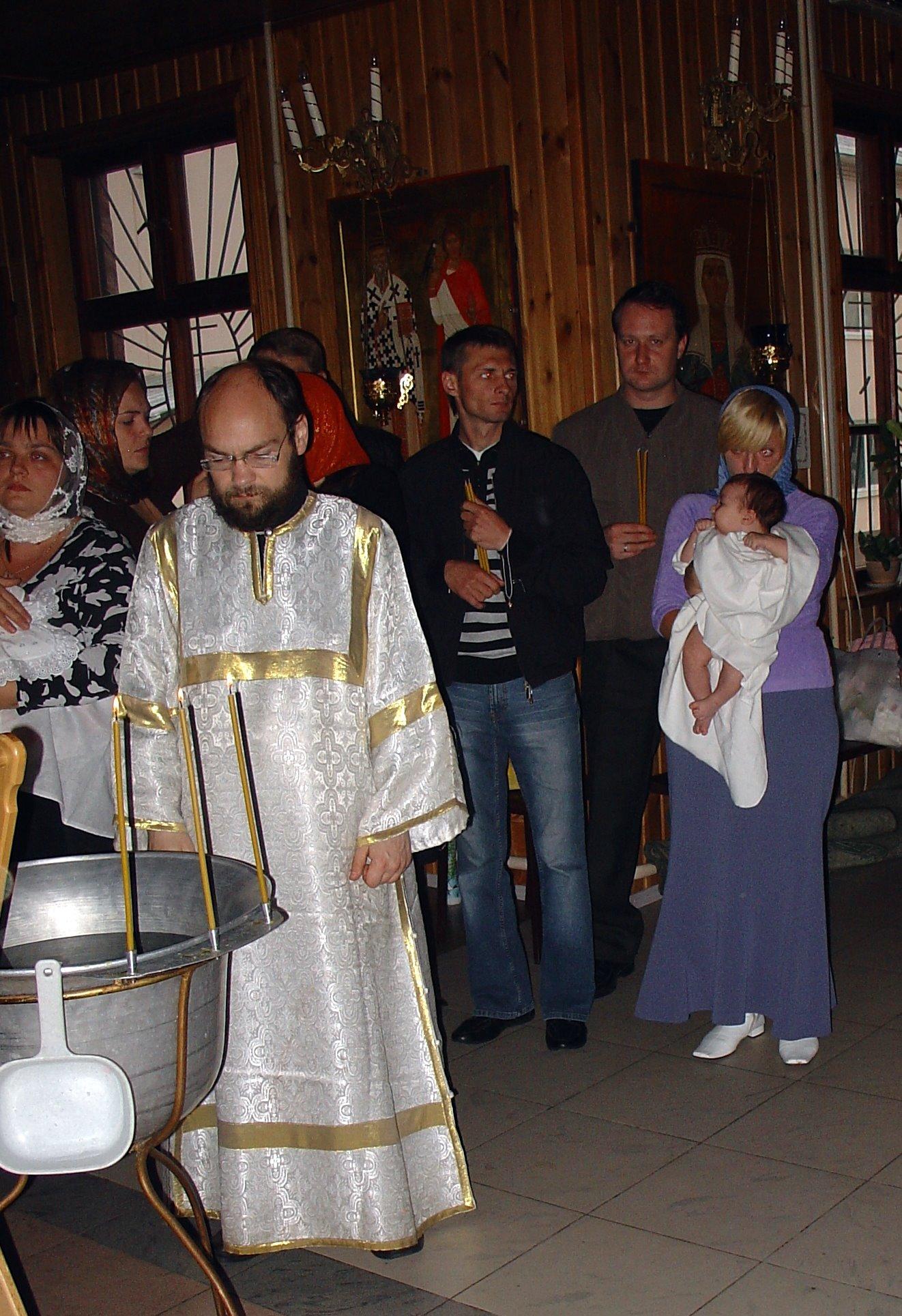 Крещение Стасика. Малыши
