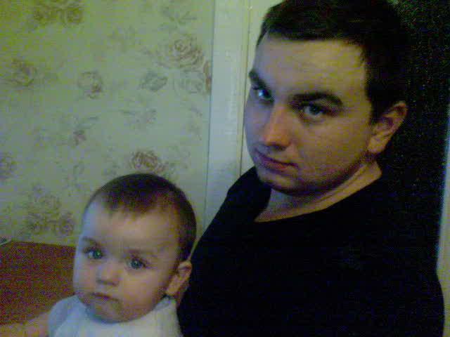 папа с сыном. Вместе с папой