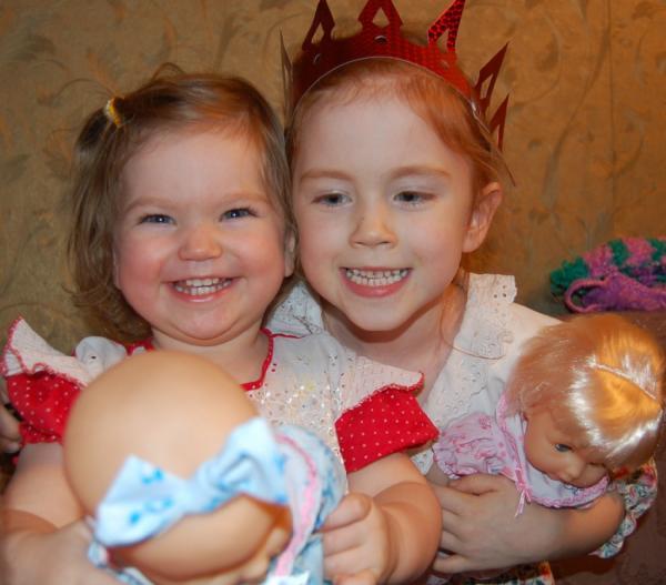 Две сестрички-невелички. Веселая компания. Читаем и играем