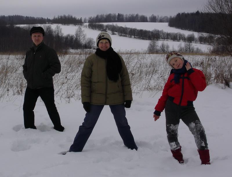 На природе. Зимние забавы