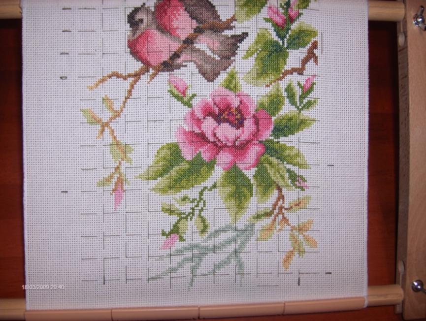 Райский сад. Весенний этюд. от Золотого руна. (В процессе). Растения (в основном цветы)