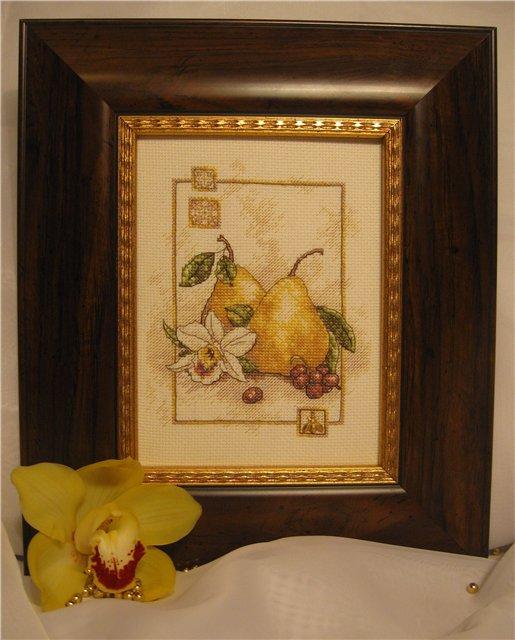 'Груши и орхидея'. Растения (в основном цветы)