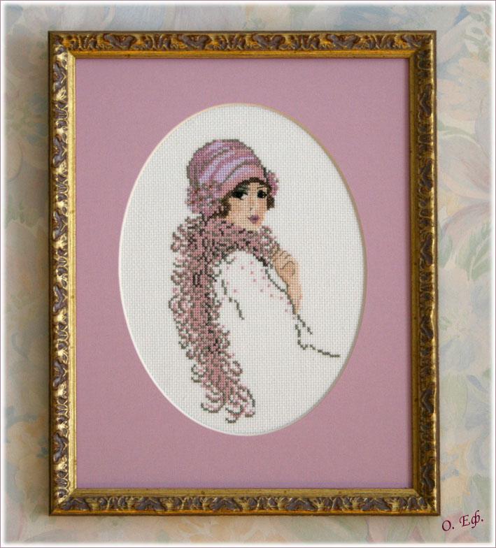 Портрет неизвестной в розовом.. Женские образы