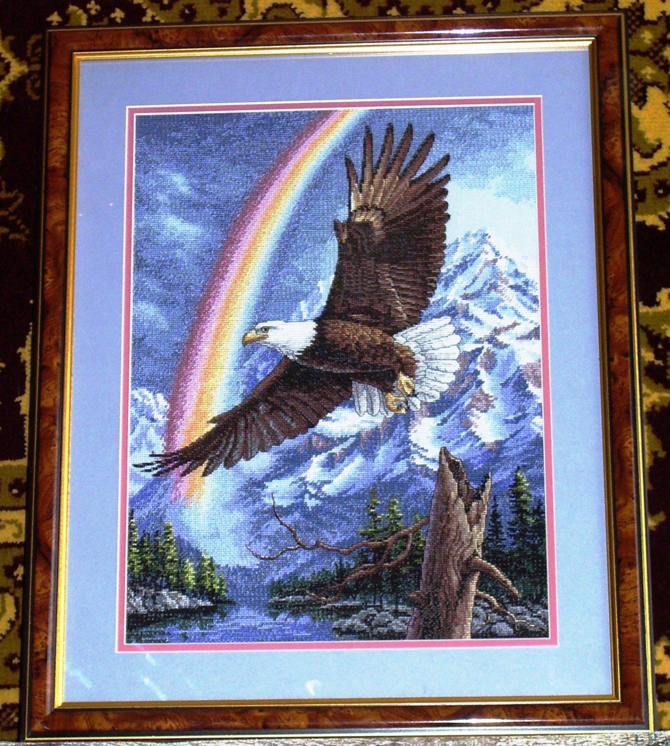 Орел и радуга.. Птицы