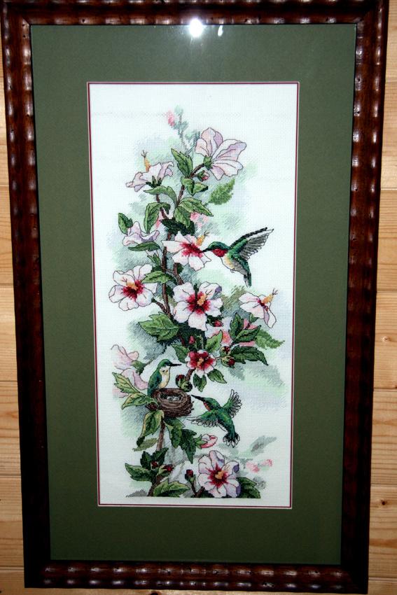 'Клематис и колибри' от Dimensions. Растения (в основном цветы)