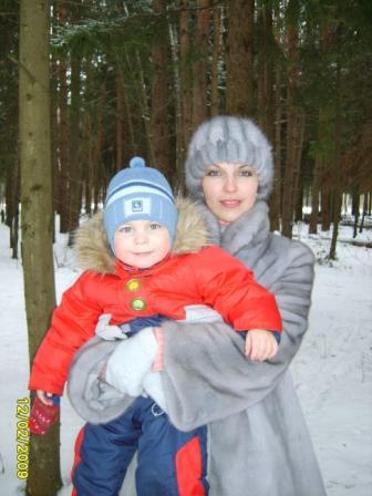 Я с сыночком Илюшей. Вместе с мамой