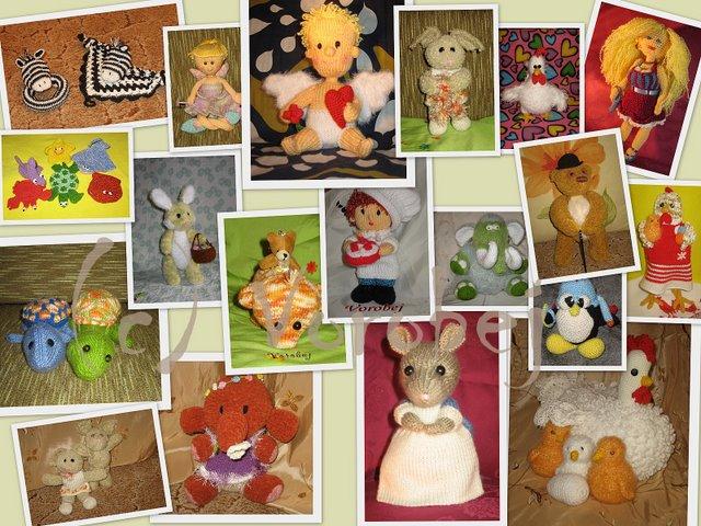 Игрушки 2008 года. Вязаные игрушки