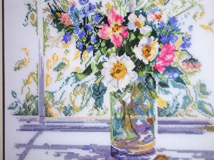 'Ваза на окне' (33877) by Lanarte. Растения (в основном цветы)