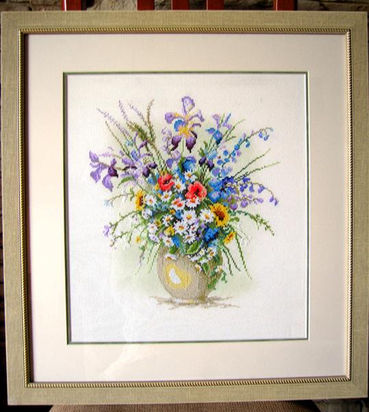 'Pretty Vase ' (34313) by Lanarte. Растения (в основном цветы)